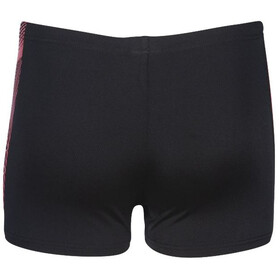 arena Feather Shorts Jongens, black /fluo red